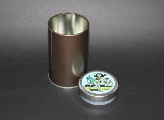 Cylindrical Tin (Medium) - Beach Scene
