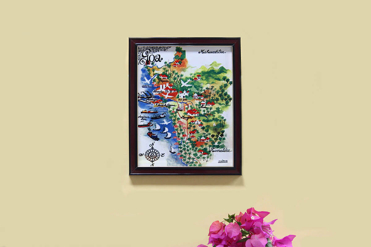 Goa Map - Tile Frame
