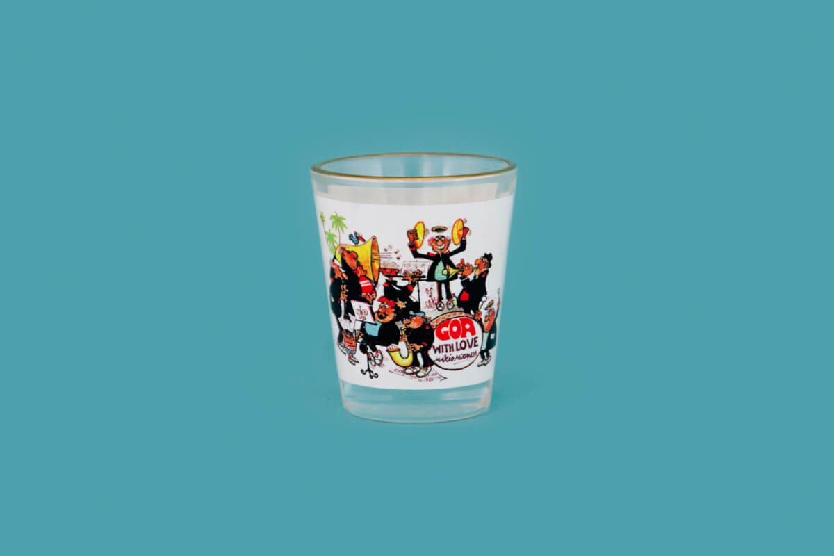 mario miranda shot glasses